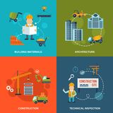 Construction Flat Icons Royalty Free Stock Images