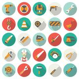 Construction flat icons set. Stock Images