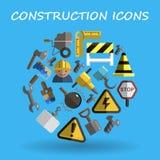 Construction flat Stock Image
