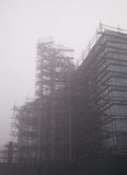Construction in fog Royalty Free Stock Photo