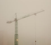 Construction on a foggy morning Royalty Free Stock Photography