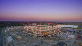 The construction of football stadium for the championship 2018. Royalty Free Stock Photography