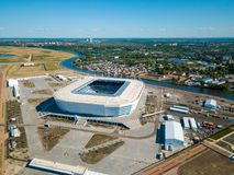 Construction of a football stadium for Fifa World Cup 2018 is completed Royalty Free Stock Photo