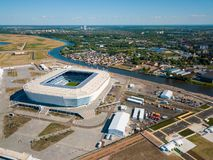 Construction of a football stadium for Fifa World Cup 2018 is completed Stock Photo