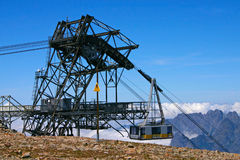 Construction For Ski Cabin With Gondola Royalty Free Stock Photography