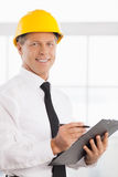 Construction foreman. Royalty Free Stock Photo