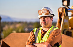 Construction Foreman with Folded Arms Stock Images