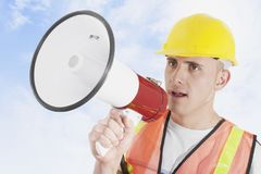 Construction worker outdoors royalty free stock photography