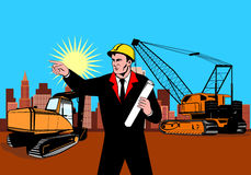 Construction foreman pointing Stock Photos