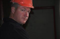 Construction foreman portrait stock photo