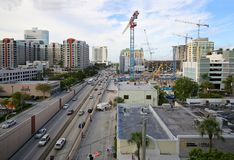 Construction in Fort Lauderdale, Florida stock photography