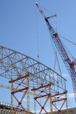 Construction frame and crane Stock Images
