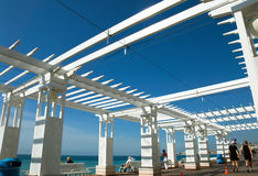 Construction Frame on Promenade des Anglais Stock Image