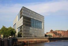 Construction futuriste à Hambourg photographie stock libre de droits