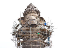 Construction,Ganesh hindu god Royalty Free Stock Image