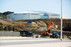 Construction Gangneung Hockey Centre in the Olympic Park. GANGNEUNG, SOUTH KOREA - JANUARY, 2017: Construction Gangneung Hockey Centre in the Olympic Park for Stock Photo
