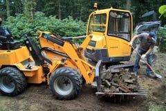 Construction of the garden Stock Photo