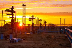 Construction of gas field Stock Image