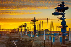 Construction of gas field Royalty Free Stock Image