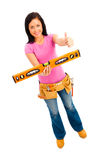 Construction Girl Royalty Free Stock Photos