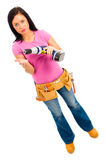 Construction Girl Royalty Free Stock Images
