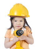 Construction Girl Stock Photo