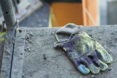 Construction glove stock photography