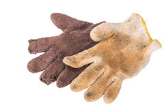 Construction gloves isolated Stock Photography