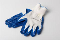 Construction gloves royalty free stock images