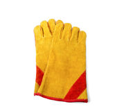 Construction gloves on white Royalty Free Stock Image