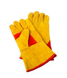 Construction gloves on white Royalty Free Stock Photography
