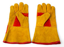 Construction gloves on white Stock Photography