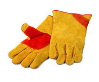 Construction gloves on white Royalty Free Stock Photo