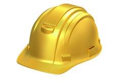 Construction Golden Hard Hat, 3D rendering Stock Photo