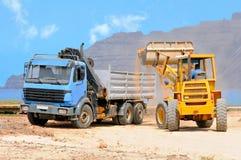 Construction at Graciosa, Canaries Royalty Free Stock Image