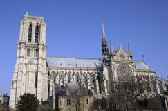 Construction grande de Notre Dame à Paris Photos stock