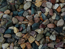 Construction of gravel texture color. Closeup Royalty Free Stock Image
