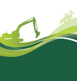 Construction green background Stock Image