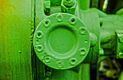 Construction grunge verte en métal Photos stock