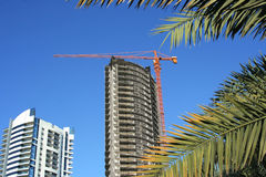 Construction in the Gulf. New constructions in the Gulf stock photos