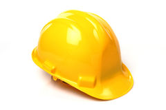 Construction Hard Hat. Isolated on white stock images