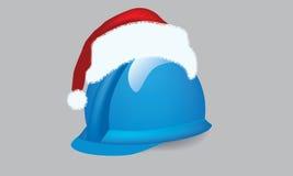 Construction hardhat with xmass theme. Illustrate  construction cap, hardhat with christmas theme Stock Photos