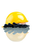 Construction Hat and Gloves Royalty Free Stock Photo