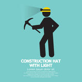 Construction Hat With Light Symbol Stock Photography