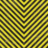 Construction Hazard Stripes Stock Image
