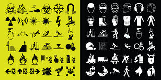 Construction and hazard warning icon collection Royalty Free Stock Photography