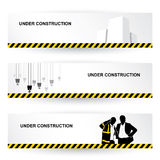 Construction headers Stock Photography