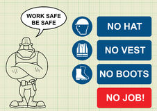 Construction health and safety Stock Images