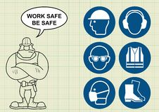 Construction health and safety Royalty Free Stock Images