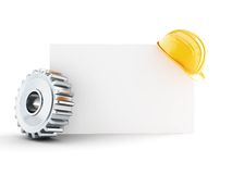 Construction helmet blank form. 3d Illustrations on a white background Royalty Free Stock Image